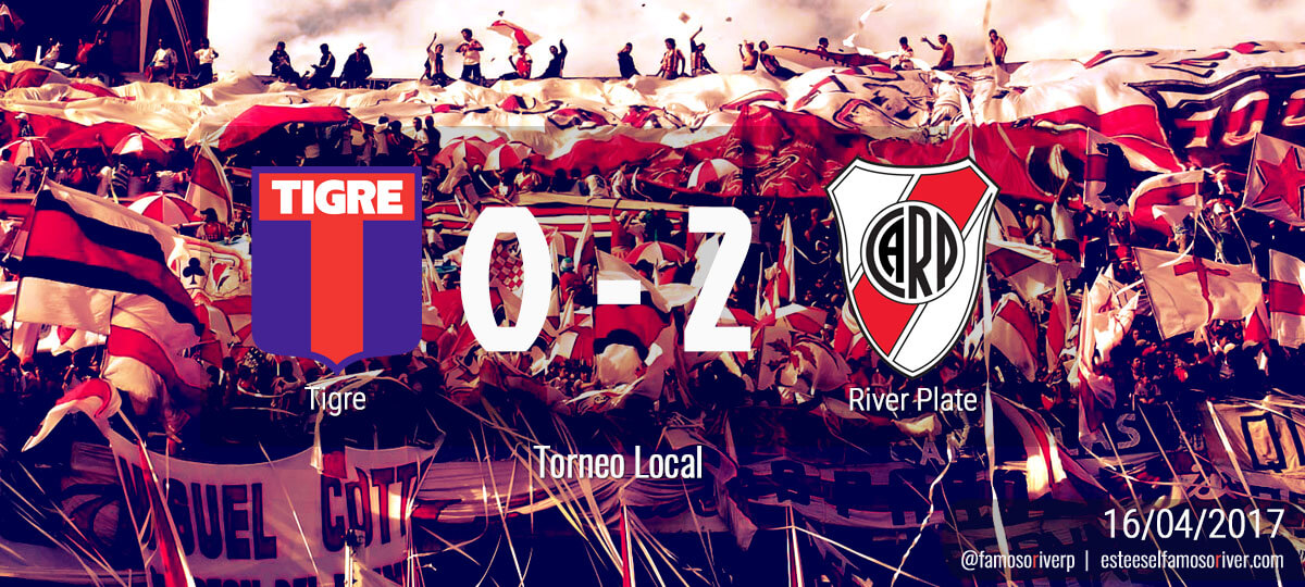 Tigre 0 - River 2 - Torneo Local 16-04-2017