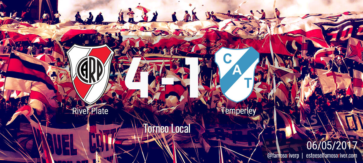 River 4 - Temperley 1 - Torneo Local 06-05-2017