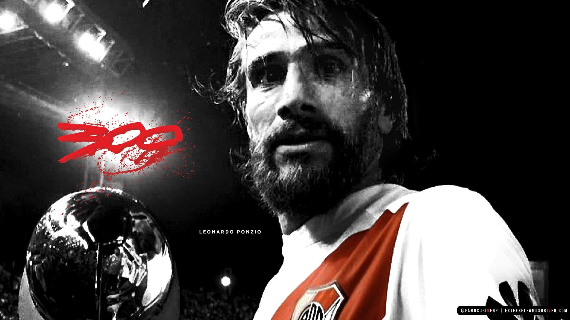 imagenes-de-river-plate-para-fondos-de-pantalla-wallpaper-de-river-leonardo ponzio 300 partidos en River Plate