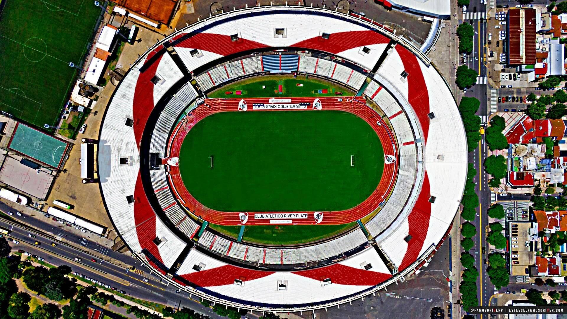 imagenes-de-river-plate-para-fondos-de-pantalla-wallpaper-de-river-estadio Monumental desde arriba vista cenital, Estadio Vespucio Liberti