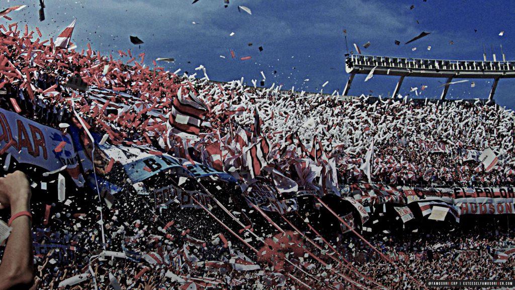 imagenes-de-river-plate-para-fondos-de-pantalla-wallpaper-de-river-Hinchada Estadio Monumental banderas