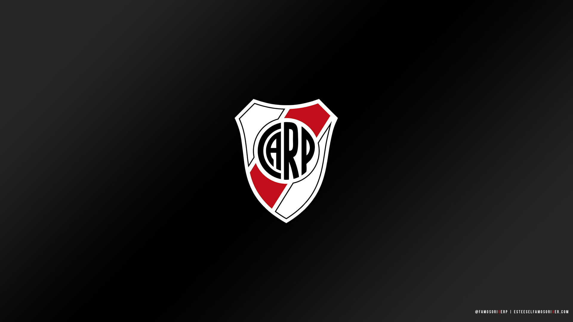 imagenes-de-River-Plate-para-fondos-de-pantalla-wallpaper-de-River-Escudo River Plate - Fondo negro
