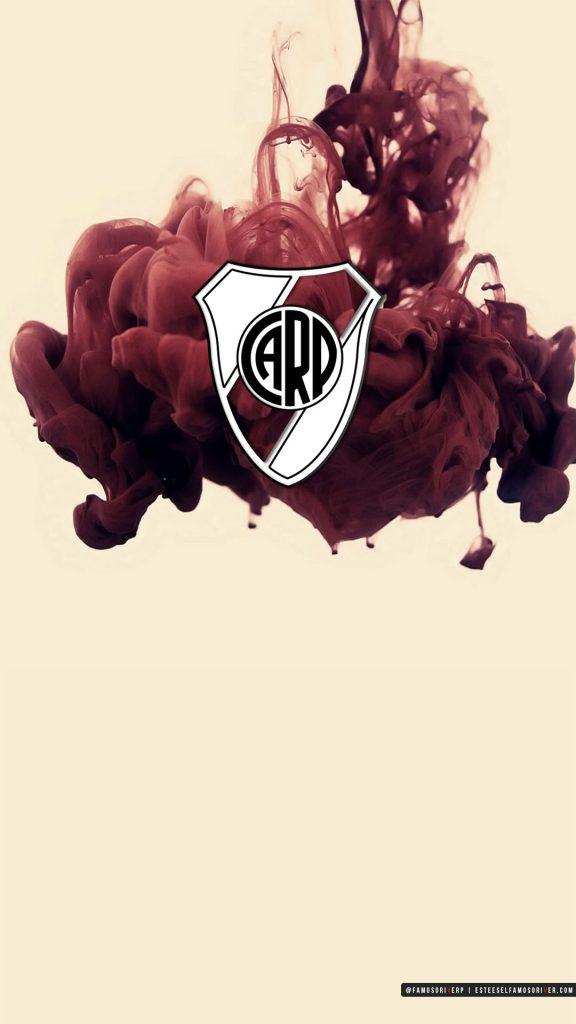 imagenes-de-river-plate-para-telefono-celular-fondos-de-pantalla-wallpaper-de-River-Escudo River Plate sobre tinta roja