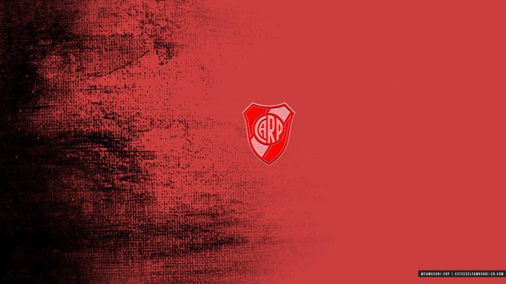 imagenes-de-River-Plate-para-fondos-de-pantalla-wallpaper-de-River-Escudo River Plate sobre fondo rojo y negro