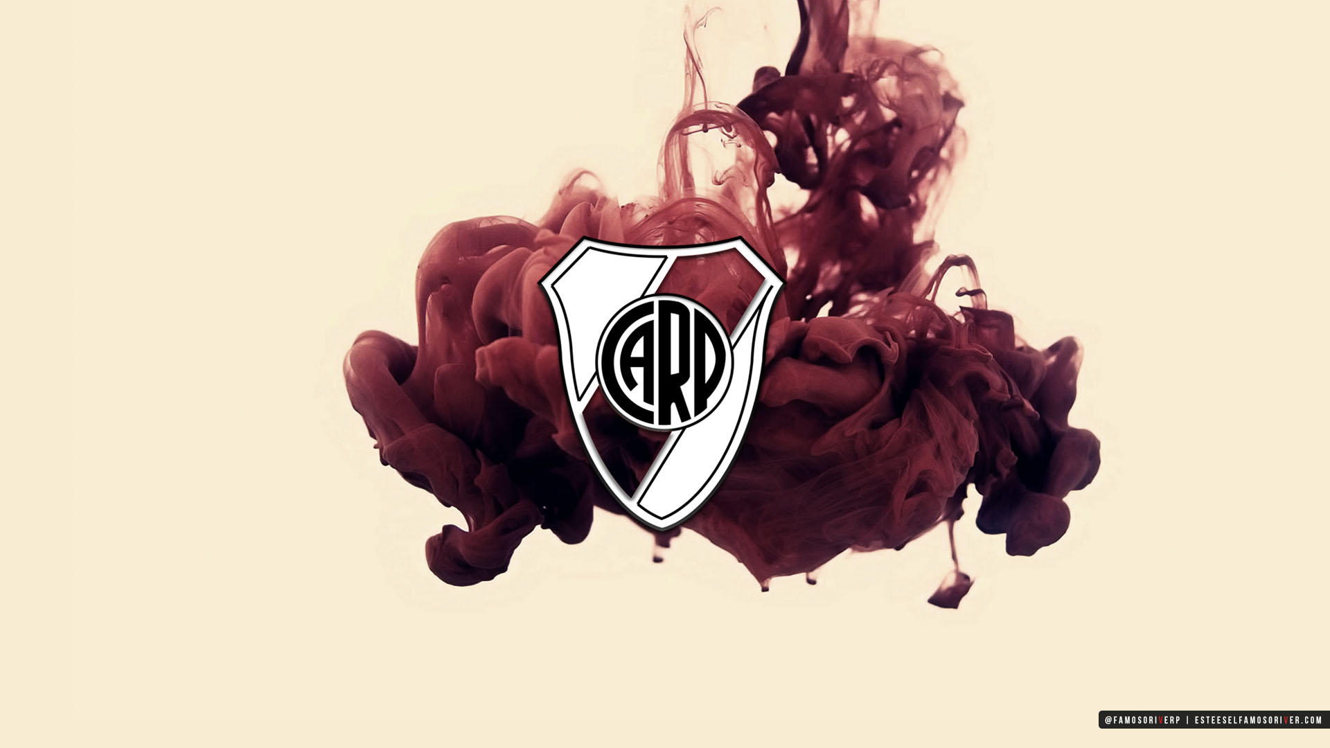 imagenes-de-River-Plate-para-fondos-de-pantalla-wallpaper-de-River-Escudo River Plate sobre tinta roja