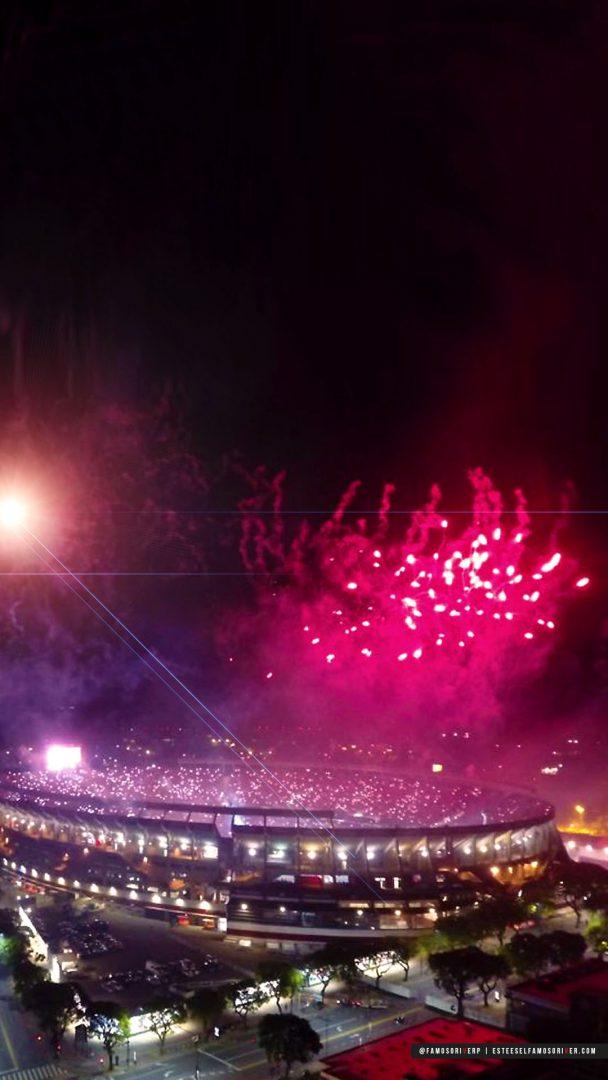 imagenes-de-river-plate-para-fondos-de-pantalla-para-celular-wallpaper-de-river-Estadio Monumental -Noche - Fuegos Artificiales