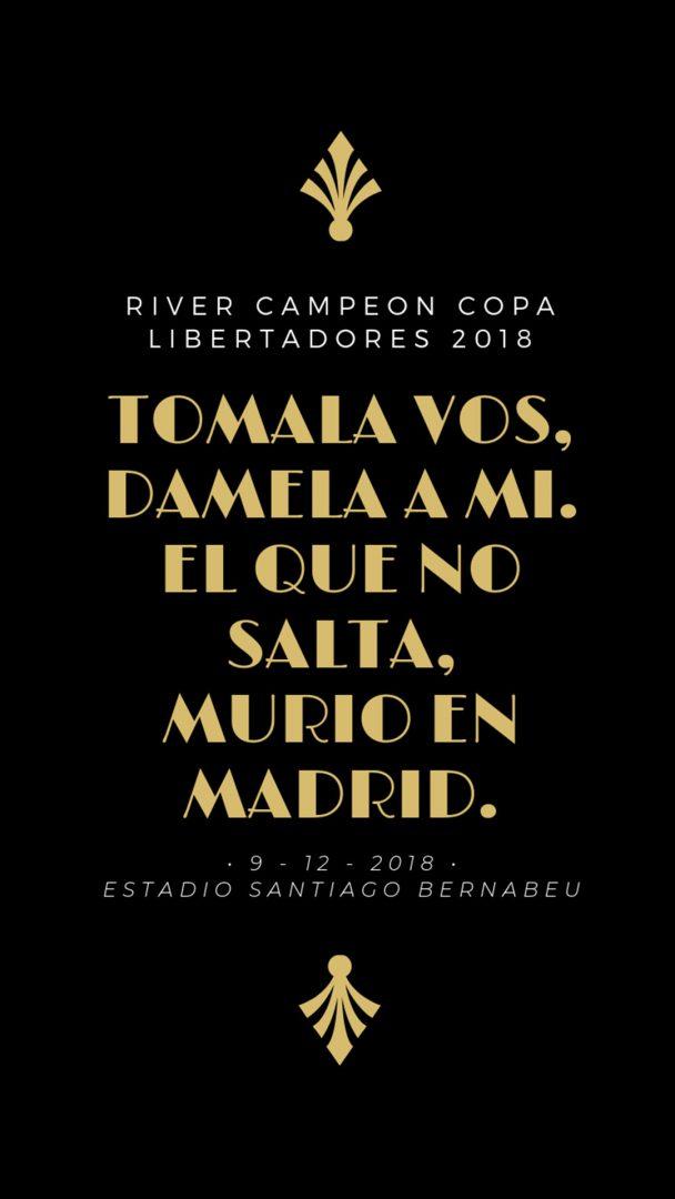imagenes-de-river-plate-para-fondos-de-pantalla-para-celular-wallpaper-de-river-Tomala vos, dámela a mí; el que no salta, murió en Madrid