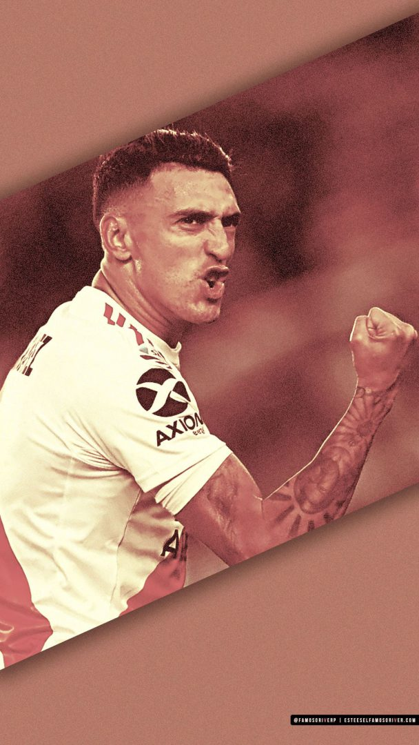imagenes-de-river-plate-para-fondos-de-pantalla-para-celular-wallpaper-de-river-Matías Suárez - Festejo gol contra Lanús